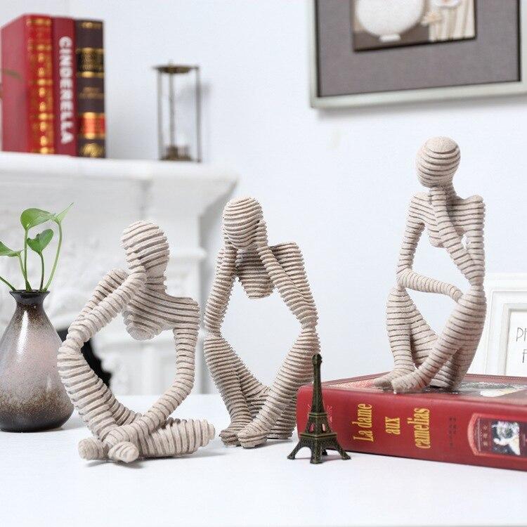 Decoración creativa del hogar una decoración que compraste sin pesar, Oficina de la sala, figuras de dibujo de arenisca adornos decorativos