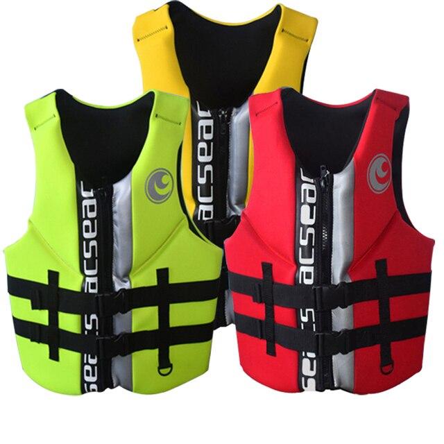 049d4e0fb6ac7 Lifevest adult neoprene life jackets Swimming Floating Vest lifejacket PFD  Type III Ski Vest/Life SIZE S TO XXXL