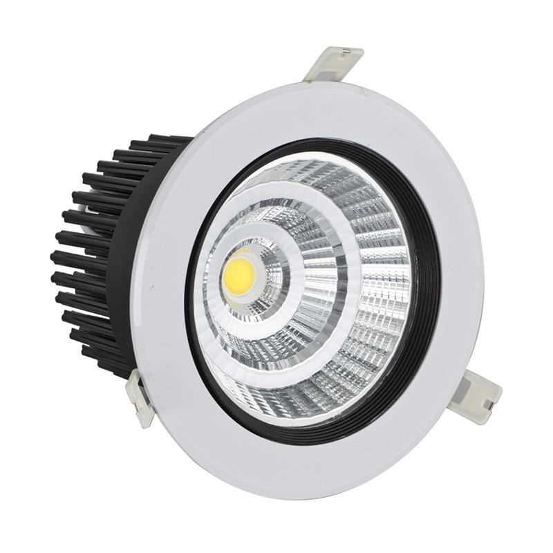 LED Ceiling Light Lamp Super Bright 12W COB 6000K Downlight Spotlight With 95MM Fixture Energy Saving (Pure White Light) lan mu led ceiling lamp octopus light