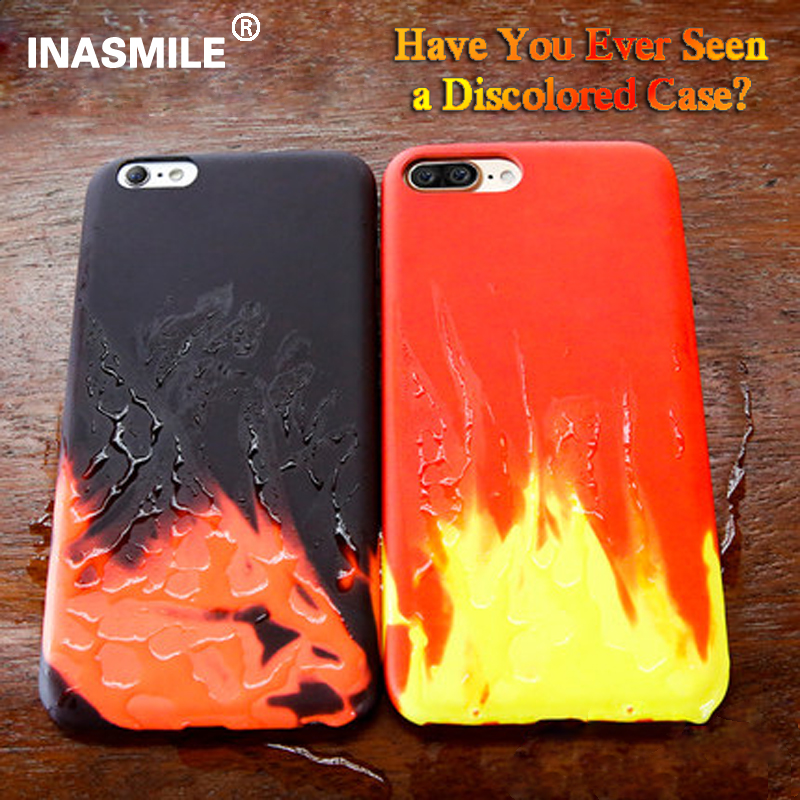 promo code b09bd 49e5d US $4.65 |Heat Induction case For iPhone 7 Plus Matte Thermal Sensor Phone  Case For iPhone 6 6s Plus Temperature sensing Phone Back Cover on ...