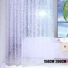 Semi-Transparent Waterproof Shower Curtain Cobblestone Pattern Shower Curtains for Bathroom HYD88