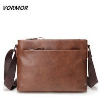 VORMOR New Arrival Famous Brand PU Leather Men Messenger Bags Casual Business Men S Crossbody Bag