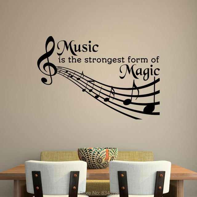 music is the strongest form of magic wall art stickers decals home