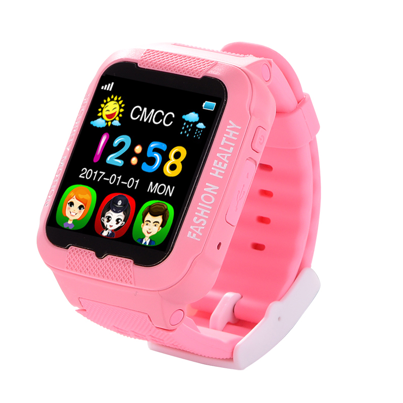 Smart watch kids GPS tracker waterproof camera Touch screen Children GPS watches SOS Location multilingual 2G