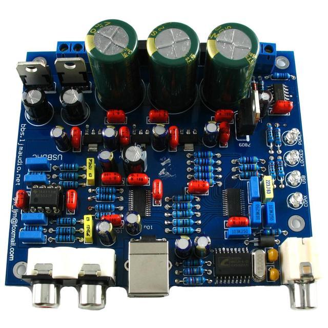 CS4398 CS8416IC DAC ボード usb 同軸 24/192 192k デコーダボード AC 15 V LJM