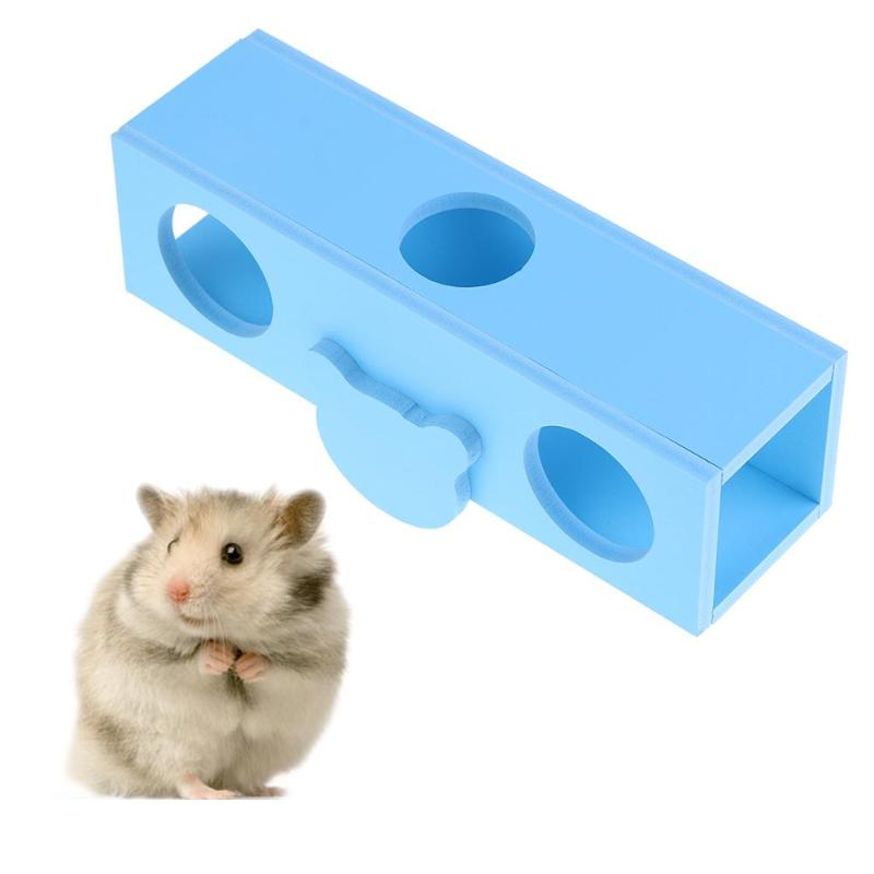 Wooden Hamster House Toy Board Wall Mounted Tunnel Small