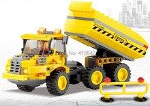 Original Box Kazi City Build Series Truck Building Block Sets 181+pcs Enlighten Educational DIY Construction Brick toys No.8043