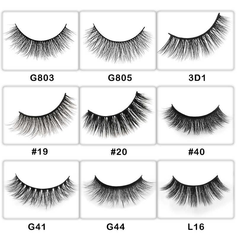 682fc712831 ... 50Pairs mink eyelashes false lashes real 3d mink lashes private label  eyelash extension makeup fake eyelashes
