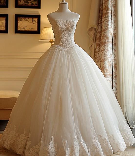 9f7daa0bf42 Замечательное платье de брак без бретелек кружевные свадебные платья Пышное  Бальное Платье фатиновая юбка 2019 Свадебные