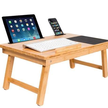 computer desks office home bed furniture bamboo laptop desk whole sale good price functional portable foldable