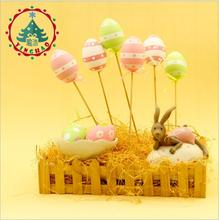 2017 Fashion Easter Decoration Easter Day Children Gifts DIY Easter Egg With Stick