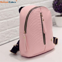 Jasmine Traveling Women Leather Backpacks Schoolbags Travel Shoulder Bag Oct11