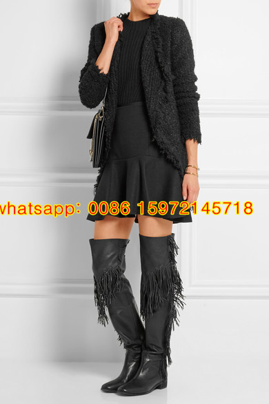 d70fe4f6145 Genuine Leather Women Long Boots Epona Tigh Boot Flat heel leather boots  with full length fringe Epona Fringe Over the Knee Boot-in Over-the-Knee  Boots from ...