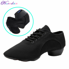 Black Professional Salsa Dance Shoes Men Women Standard Ballroom Tango Latin Teacher Canvas Jazz Sneakers