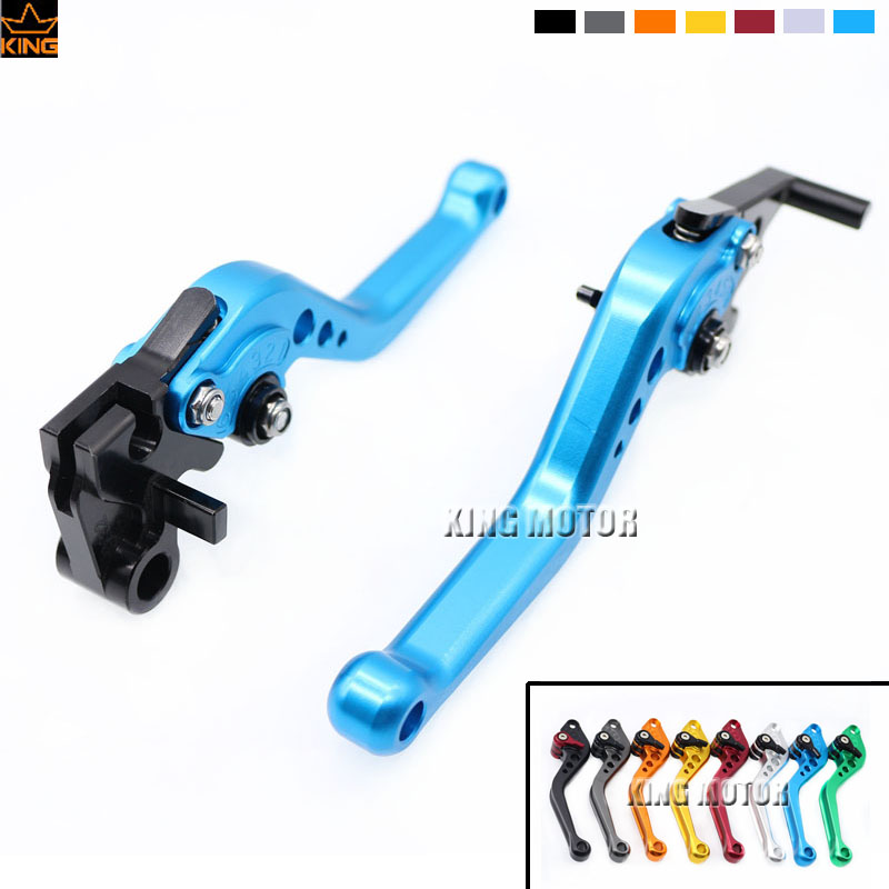 ФОТО New Product Motorcycle Accessories Short Brake Clutch Levers For YAMAHA YZF R25 YZF R3 MT-25 MT-03 MT03 MT25 Blue