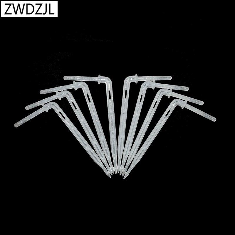 4/7 Arrow Dropper Arrow Drip Emitter Drip Curved Transparent White Greenhouse Irrigation For 4/7mm Hose 25pcs