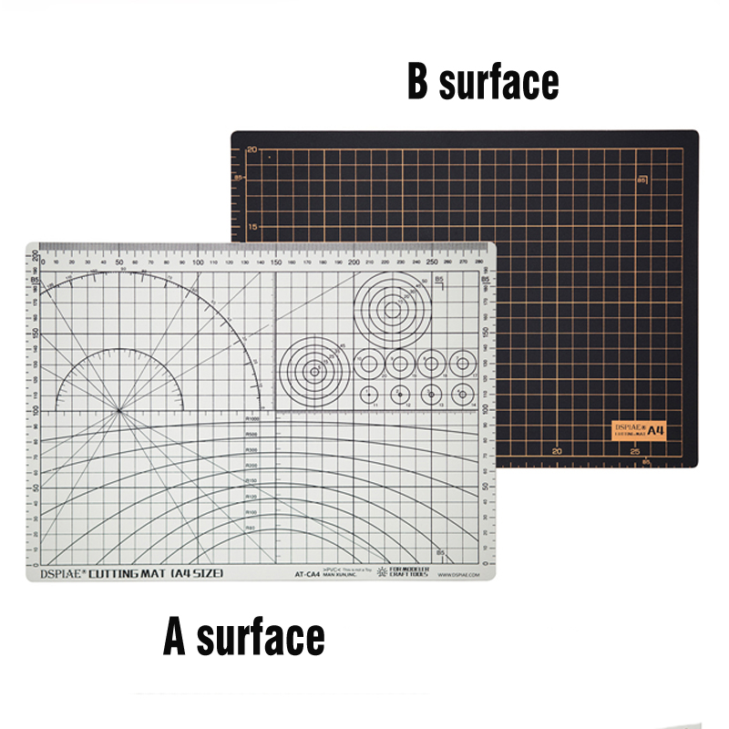 New Listing Double-sided Black And White Color Environmental Protection Material A4 Cutting Mat Model Hobby Accessory Tools