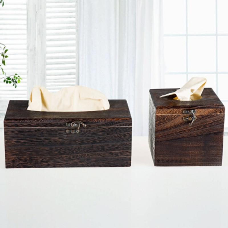 Бумажный стеллаж деревянная коробка для хранения салфеток Автомобильная домашняя коробка для салфеток прямоугольной формы контейнер для полотенец салфеток диспенсер для салфеток Органайзер держатель