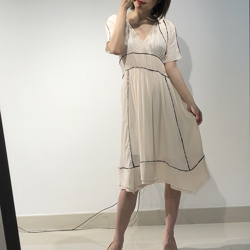 Woman Dress In Long Stitching Floral Dress