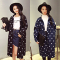 2017 Женщин Весна Осень Denim Звезды Печать Базовая Пальто Длинный Повседневная Негабаритных Плюс Размер Джинсовый Жакет Пальто женщин clothing Korea