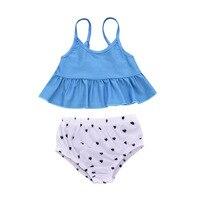 Комплекты летней пляжной одежды для маленьких девочек, топы на бретелях + шорты, комплекты из 3 предметов для маленьких девочек, одежда для м