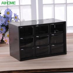 9 Jewelry Plastic Storage Box Mini Debris Cabinets Lattice Portable Amall Drawer Sorting Grid Desktop Office Supplies