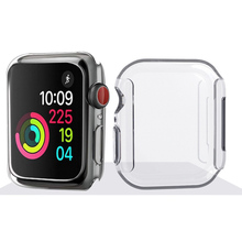Hot Sale 40mm 44mm Shockproof Case Cover Screen Protector for iWatch 4 TPU Transparent Dropproof Waterproof for Apple watch 4