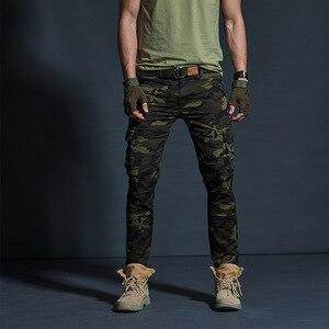 Image 4 - Vômito Estilo Militar dos homens Carga Calças Dos Homens Impermeável Respirável Calças Masculinas Corredores Exército Bolsos Das Calças Casuais Plus Size