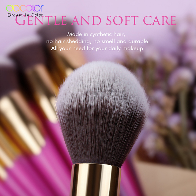 Docolor Makeup Brushes Set 14PCS Professional Make Up Brushes New Brushes for Face Makeup  Foundation Powder Eyeshadow Brushes 2