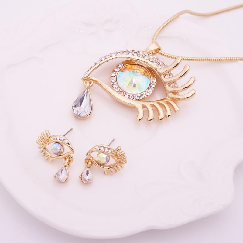 Κομψό Teardrop Eye Κρίσταλ Κοσμήματα Σετ - Κοσμήματα μόδας - Φωτογραφία 4