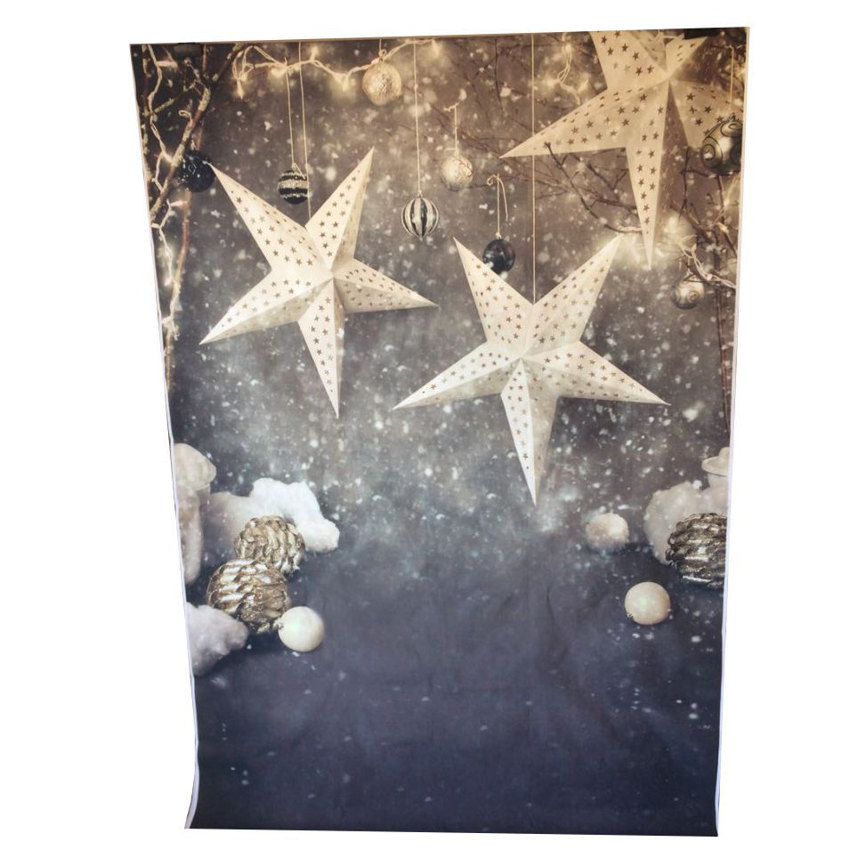 Vinyl Photography Background Snowflake Christmas star Computer Printed children Photography Backdrops for Photo Studio 100*150cm shengyongbao 300cm 200cm vinyl custom photography backdrops brick wall theme photo studio props photography background brw 12