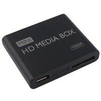 En stock! Mini Plein 1080 p HD Media Player Boîte MPEG/MKV/H.264 HDMI AV USB + À Distance UE plug date