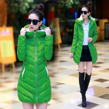 Cheap wholesale 2016 Spring autumn winter popular women female plus size medium-long outerwear down cotton-padded snow Parkas