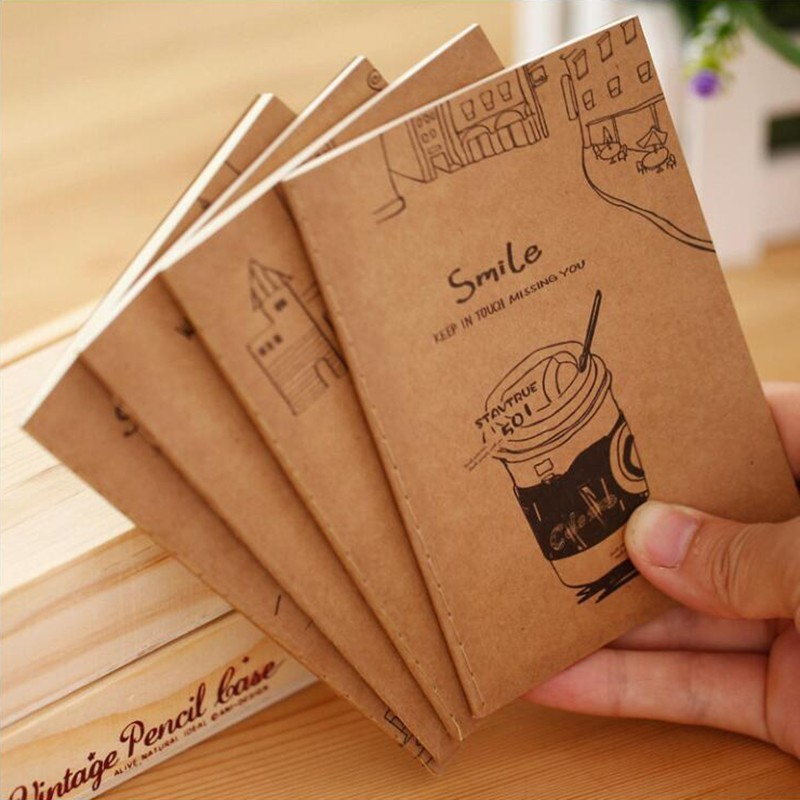 Japanese Small Fresh Good Time Kraft Paper Notebook Colorful Animal Pattern Notepad Office Stationery And School Supplies