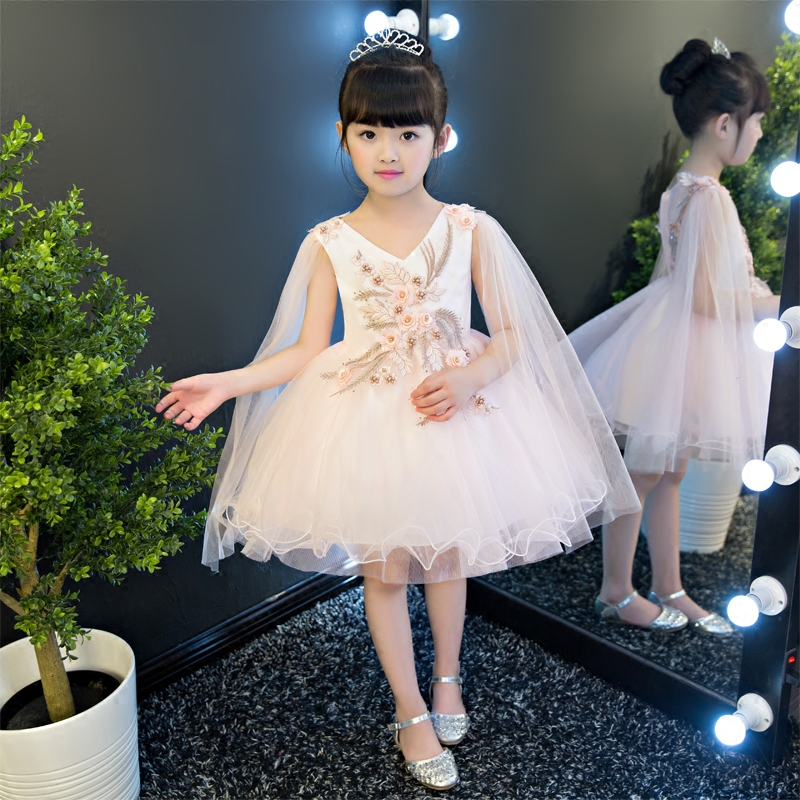 Summer Luxury Sweet Dress For Girls 2017 Princess Wedding Birthday Party Dresses 3-15 Years Dress Bridesmaid Children Clothing sweet years sy 6282l 07
