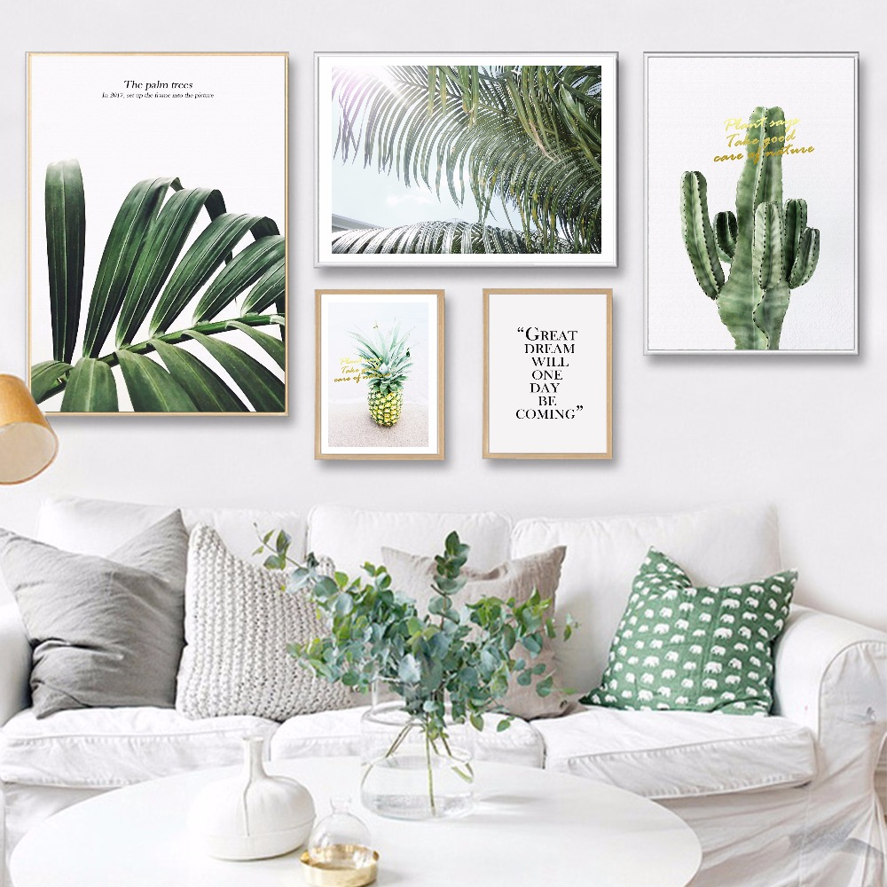 ONESAID Posters And Prints Wall Art Canvas Painting Pineapple Wall Pictures For Living Room Nordic Poster Decoration B-JY005