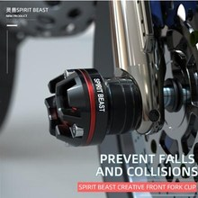 New Spirit beast motorcycle anti-fall block universal modification accessories personality front shock absorber anti-fall block стоимость