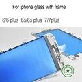 Premium A + 6 S Передняя Внешний Объектив Сенсорный Экран Стекла С Рамкой Для iphone 6 6 plus/6 s plus/7 плюс Запчастей замена