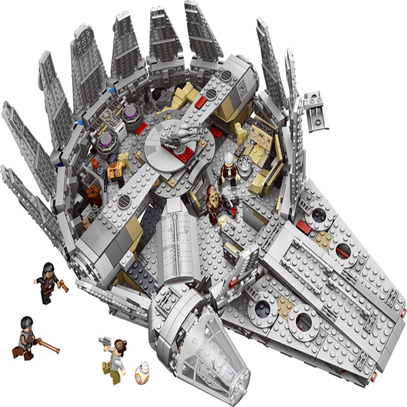 Blocs de construction Faucon Millenium Jouets Compatible legoed Star Wars Outer Space Ship Marvel action figure Amis Briques Modèles