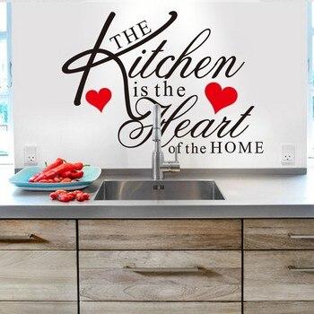 Proverbios ingleses papel pintado de cocina restaurante creativos adhesivos de pared con frase diy Adhesivo de pared vinilo adhesivo decoración del hogar
