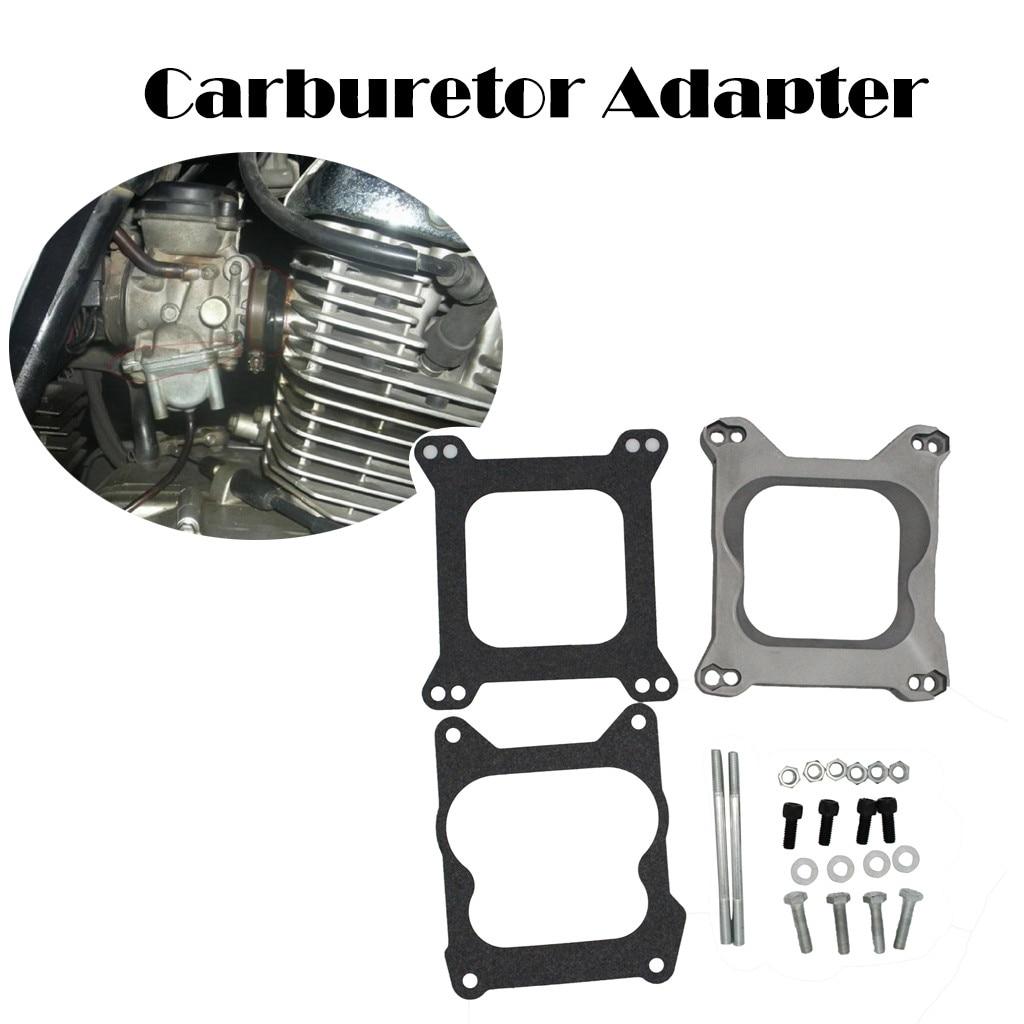 Carburetor Adapter 4bbl Carb Quadrajet Manifold to Holley Edelbrock Demon Carter