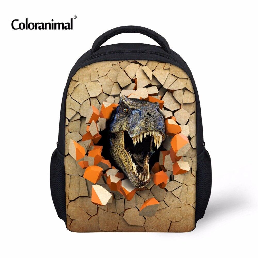 Coloranimal Kindergarten Kids Backpacks Bags Children Shoulder Backpack Cool 3D Dinosaur Bagpack Toddler Mochila Infantil School