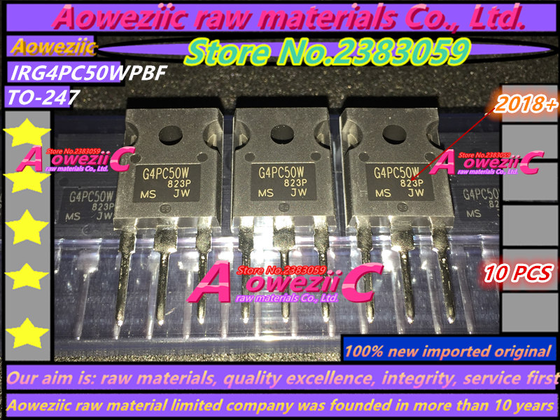 Aoweziic 2018 100 new imported original IRG4PC50WPBF G4PC50W IRG4PC50WPBF TO 247 IGBT tube 27A 600V