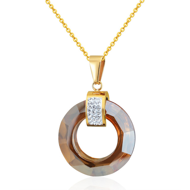 Фото новый дизайн популярное многосекционное мерцающее круглое ожерелье цена