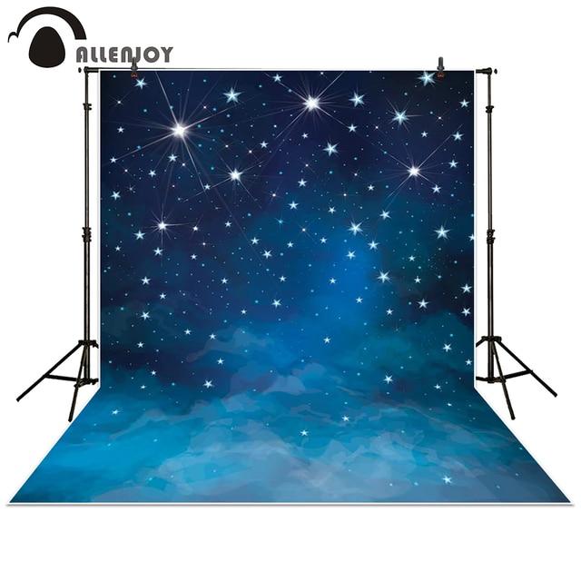 Allenjoy Photography Backdrop Space Blue Stars Shine