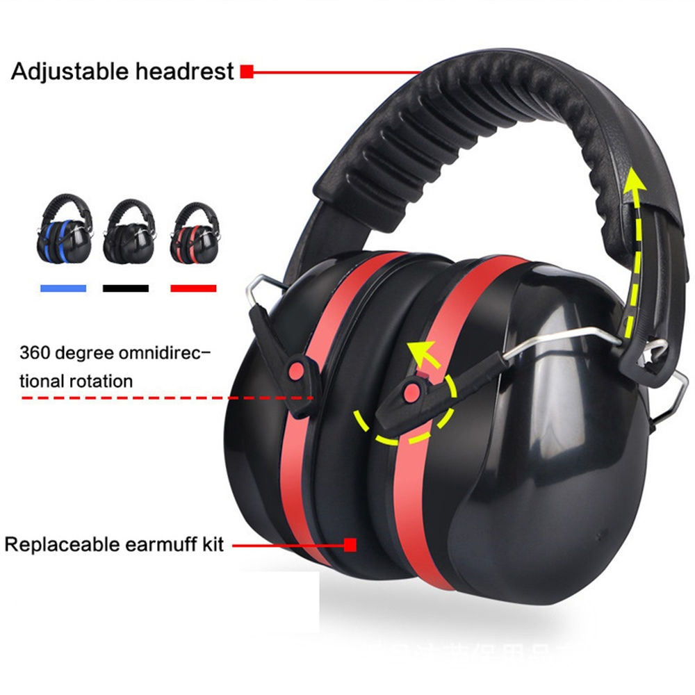 Electronic Shooting Ear Protection NRR 22dB Sound Amplification Noise Reduction Ear Muffs Hearing Protectors For Kids Teens
