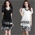 Летом 2016 корейской шифоновое платье новинка свободный Большой размер жира м . специальное предложение цветочные платья дамы свободного покроя одежду новый
