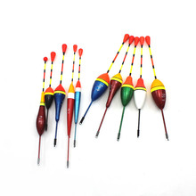 20/50/100pcs Fishing Float Set Buoy Bobber Fishing Light Stick Floats Flutuador  4.5g 3.0g 2.5g 1.2g 0.8g 0.6g Mix Size Color