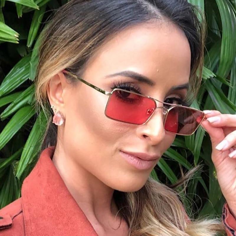Купить маленькие модные узкие прямоугольные солнцезащитные очки для