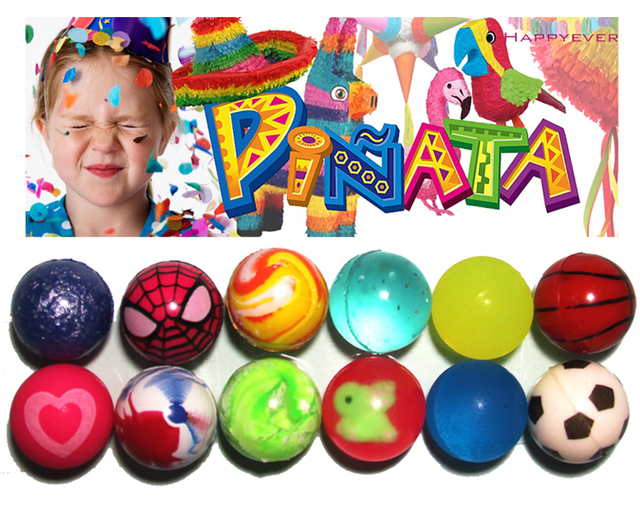12Pcs 27mm Assorted High Bounce Rubber Ball Small Bouncy Ball Pinata Fillers Kids Toy Party Favor Bag Gifts Treat Bag Goody Bag